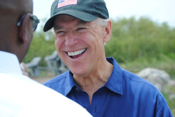Vice President Joe Biden visited the Everglades in April, 2012 to discuss the administration's ecosystem restoration priorities and efforts.