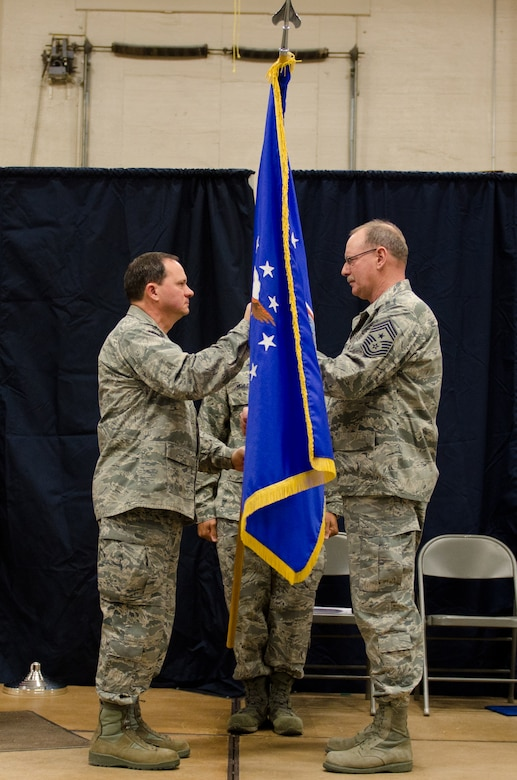 Chief Master Sgt. Mark Frye becomes Command Chief of the 139th Airlift Wing in Saint Joseph Mo., Jan. 5. (U.S. Air Force photo/Senior Airman Sheldon Thompson)