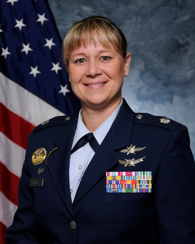 Lt. Col. Lynn Plunkett, 50th Space Communication Squadron Commander