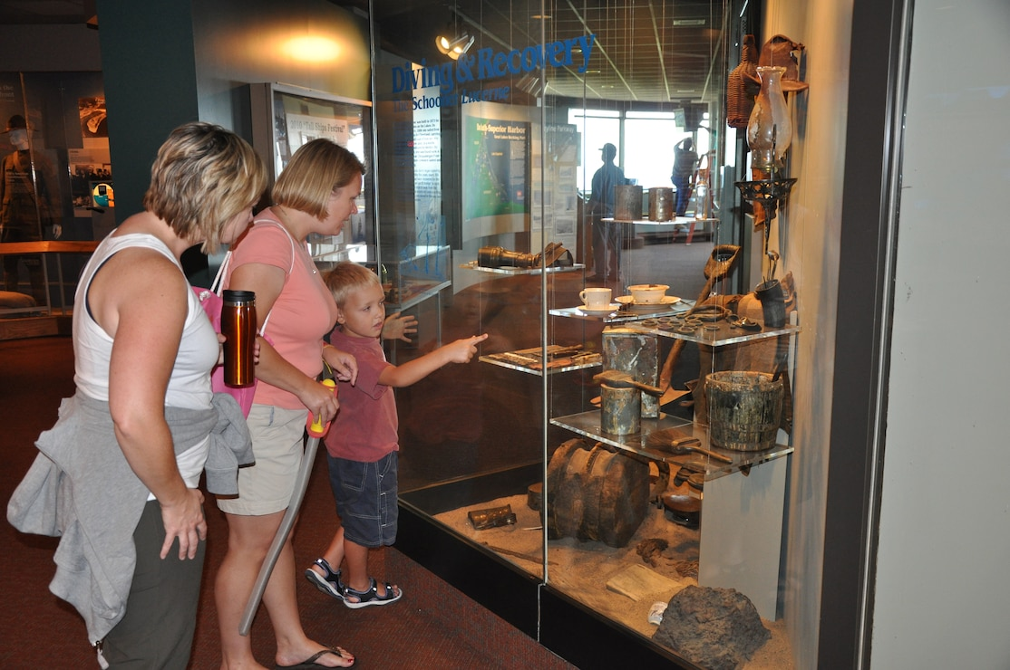 Exhibits at the Lake Superior Maritime Visitor Center