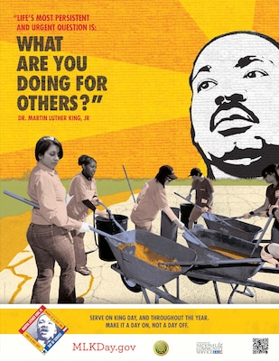 On Jan. 21, the U.S. Army Corps of Engineers Los Angeles District Black Employment Program will honor Dr. Martin Luther King, Jr. Day with a day of service, not a day off.