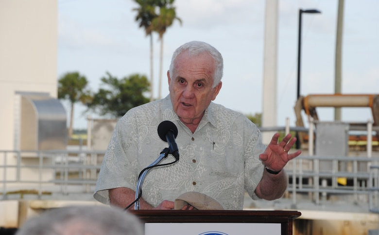 """Terrence """"Rock"""" Salt, Principal Deputy Assistant Secretary of the Army for Civil Works, praised the South Florida Water Management District for completing construction on the C-111 Spreader Canal Western Project during the Jan. 11, 2013, dedication ceremony in Homestead, Fla."""
