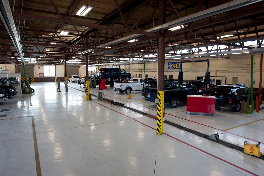 """The 49th Logistics Readiness Squadron vehicle management flight is installing new Automotive Informational Modules (version 2.4), better known as """"AIM2,"""" at both of the fueling stations and in 519 government vehicles at Holloman Air Force Base, N.M. AIM2 is a fossil fuel savings initiative that supports Energy Independence and Security Act 2007 and Presidential Executive Order 13423. These modules work through the use of radio frequency technology to track fuel consumption data and process data for vehicles pertaining to maintenance repairs, which will save both money and manpower – about 1.5 million man hours per year across the Air Force. (U.S. Air Force photo by Staff Sgt. Carolyn Herrick/released)"""
