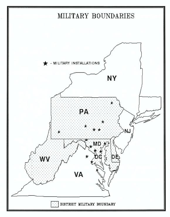 USACE Baltimore Military Boundaries