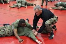 Marines enhance thier MCMAP skill during MACE visit