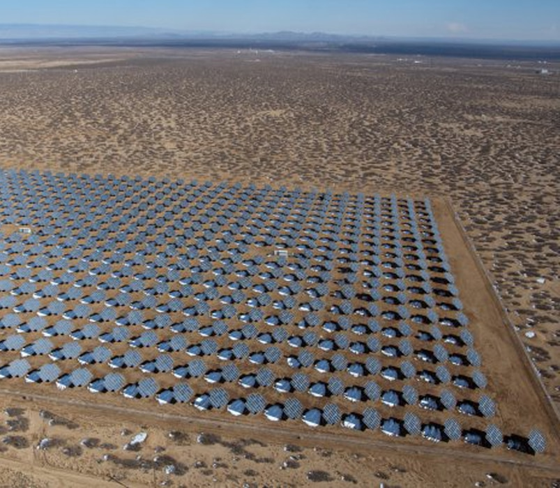 This aerial view of the solar photovoltaic array at White Sands Missile Range, N.M., was taken, Jan. 8, 2013. The panels cover 42 acres and provide more than four megawatts of electricity to the base.