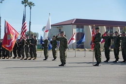 MARINE CORPS BASE CAMP PENDLETON, Calif. - U.S. Marines and Sailors with 13th Marine Expeditionary Unit and members of the Japan Ground Self-Defense Force participate in the opening ceremony of Exercise Iron Fist 2013 aboard Marine Corps Base Camp Pendleton, Calif. Jan. 22, 2013.During Iron Fist 2013, the 13th MEU and Western Army Infantry Regiment, JGSDF will spend three weeks participating in bilateral training to improve their interoperability, enhance military-to-military relations and sharpen skills essential to crisis response. 