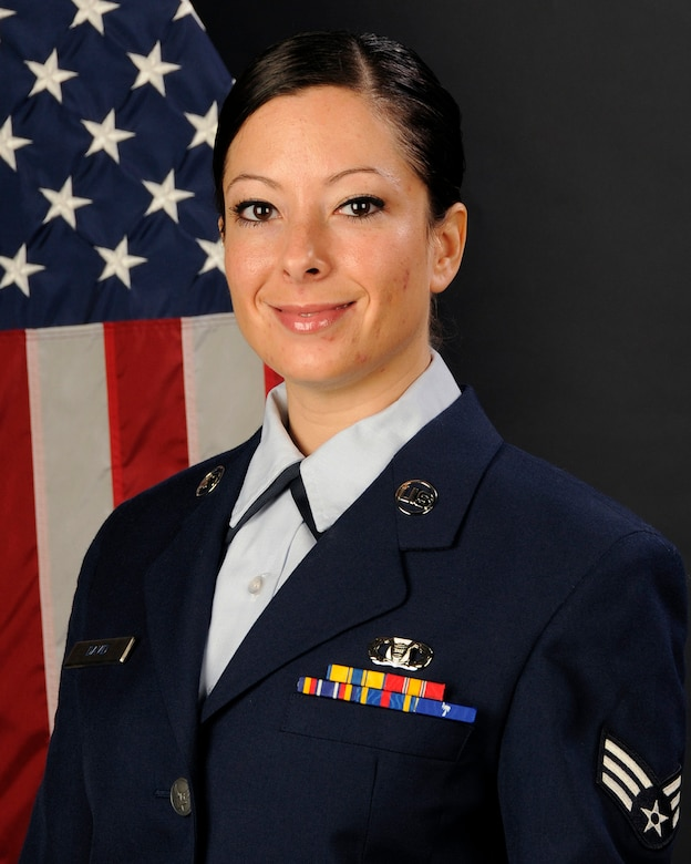 Senior Airman Ashleigh David, with the 169th Fighter Wing at McEntire Joint National Guard Base, S.C., poses for her portrait on Jan. 17, 2013. Airman David was selected as the (Full Time) 169th Fighter Wing Airman of the year for 2012.(National Guard photo by Tech. Sgt. Caycee Watson/Released)