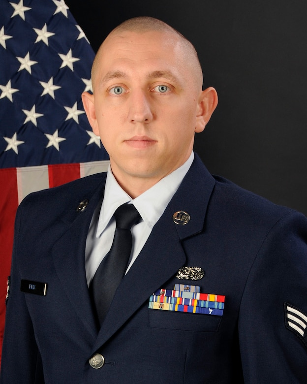 Senior Airman Matthew Dick, with the 245th Air Traffic Control Squadron at McEntire Joint National Guard Base, S.C., poses for his portrait on Jan. 17, 2013. Airman Dick was selected as the South Carolina Air National Guard Airman of the year for 2012.(National Guard photo by Tech. Sgt. Caycee Watson/Released)