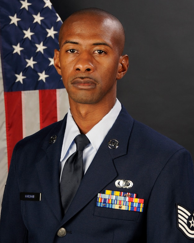 Tech. Sgt. Walter Gordon Jr., with the 169th Mission Support Group at McEntire Joint National Guard Base, S.C., poses for his portrait on Jan. 13, 2013. Tech. Sgt. Gordon was selected as the (Traditional) 169th Fighter Wing Non Commissioned Officer of the year for 2012.(National Guard photo by Tech. Sgt. Caycee Watson/Released)