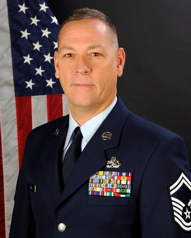 Senior Master Sgt. Barry Boyle, with the 169th Aircraft Maintenance Squadron at McEntire Joint National Guard Base, S.C., poses for his portrait on Jan. 9, 2013. Senior Master Sgt. Boyle was selected as the 169th Fighter Wing (Full Time) Senior Non Commissioned Officer of the year and the South Carolina Air National Guard NCO of the year for 2012.(National Guard photo by Tech. Sgt. Caycee Watson/Released)