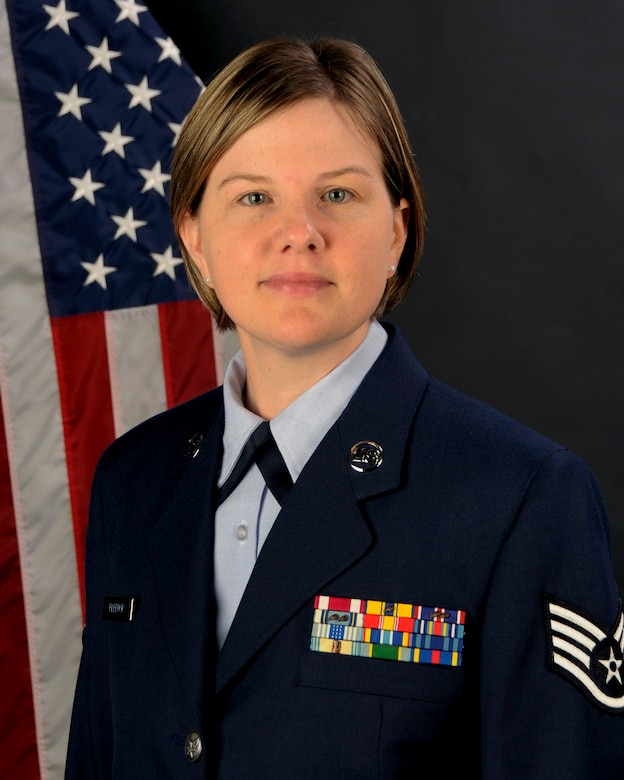 Staff Sgt. Ruth Fleenor, from the 169th Force Support Squadron at McEntire Joint National Guard Base, S.C., poses for her portrait on Dec. 13, 2012.  Staff Sgt. Fleenor was selected as the 169th Fighter Wing (Full Time) NCO of the Year for 2012.  (National Guard photo by Tech. Sgt. Caycee Watson/Released)