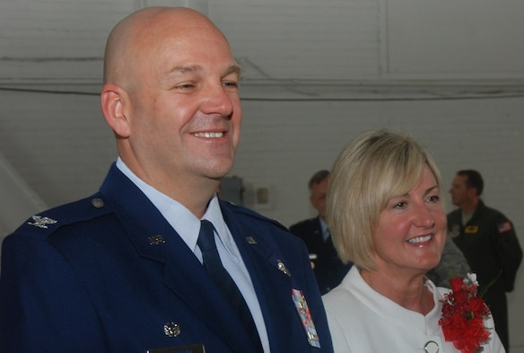 Col. Steven Vautrain, and his wife, Katie, have been nominated for the Gen. and Mrs. Jerome F. O'Malley Award, which recognizes their dedication to the people and mission at Westover ARB. (U.S. Air Force photo by TSgt. Timm Huffman)