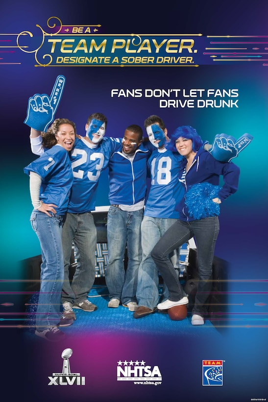 People who plan to watch the Super Bowl on Feb. 8, 2013 are encouraged to designate a sober driver if they plan to consume alcohol during the festivities. (Courtesy Illustration)