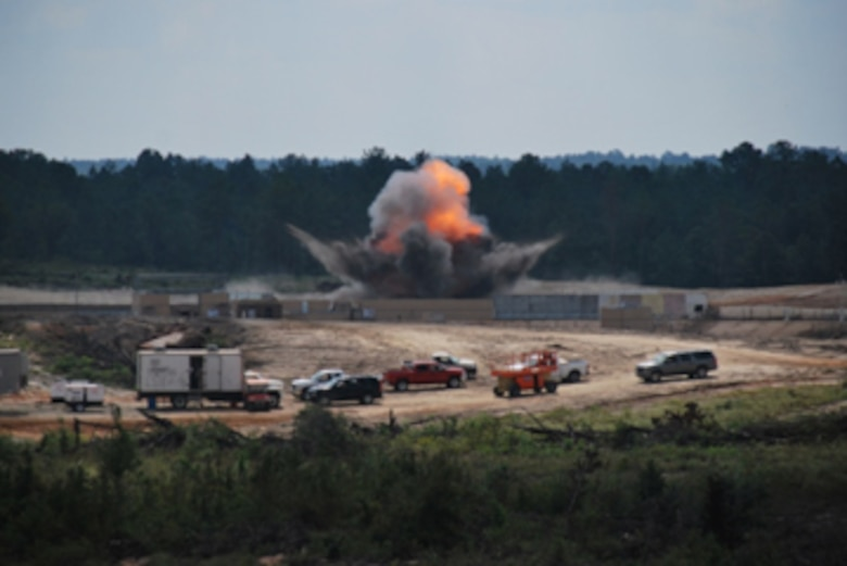 GSL personnel put their technology to the test during a simulated explosive blast.