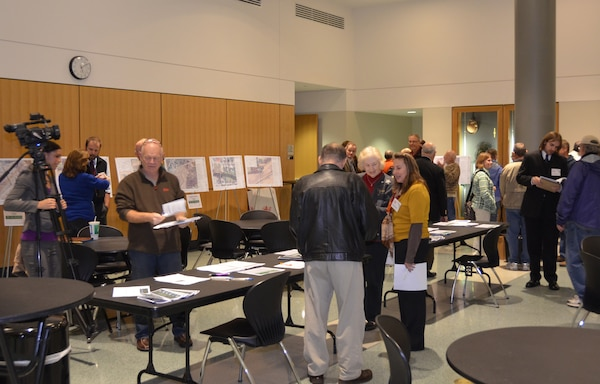 The Army Corps of Engineers, Louisville District, helps the public understand Aquatic Nuisance Species (ANS) at a public meeting in Fort Wayne, Ind., Dec. 4, 2012.