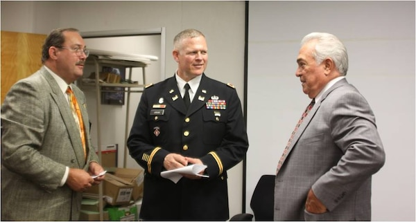 Col. Jordan, Commissioner DeJuliis and an area contractor speak candidly following the recent Construction Roundtable.