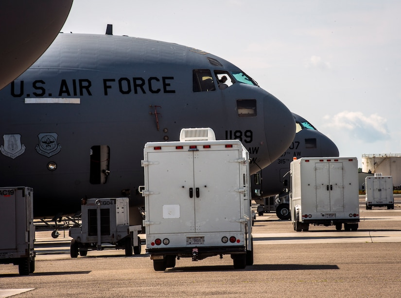 An Airman from the 437th Maintenance Group perform routine maintenance to C-17 Globemaster III's June 26, 2013, on the flightline, at Joint Base Charleston – Air Base, S.C. Airmen from the 437th MXG perform routine maintenance to C-17s daily. (U.S. Air Force photo/ Senior Airman Dennis Sloan)