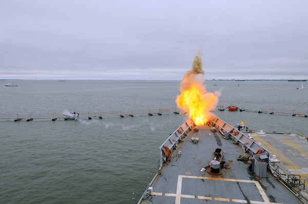Explosives are detonated to convey the reality of a terrorist attack during Citadel Protect 2010. Citadel Protect is a series of training exercises to assess the Navy's capability to protect waterborne assets against threats in Navy ports. Citadel Protect is a coordinated event between U.S. Fleet Forces and Commander, Navy Installations Command.