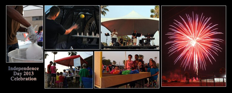 An Independence Day Celebration was held at Davis-Monthan Air Force Base, July 4, 2013. The event included private organization booths, games for families and a performance by the Desert Cadillac Band. A 25-minute firework display ended the celebration.