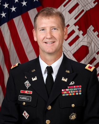 Col. Michael J. Farrell, commander, U.S. Army Corps of Engineers Sacramento District.