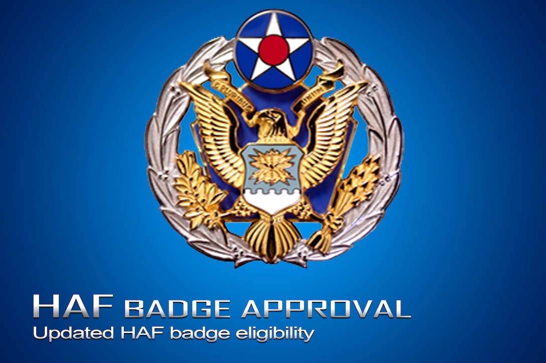 Headquarters US Air Force Badge has now been approved for the United States Air Force Honor Guard to wear after completion of ceremonial duties.