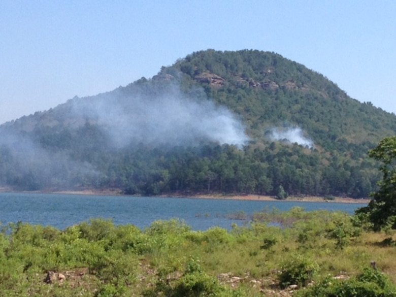 Heber Springs, Ark. – The Army Corps of Engineers, Greers Ferry Project Office wants its neighbors and visitors to know that because of a lightning strike on July 10 Sugar Loaf Mountain has a fire burning on it.