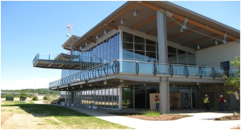 The Facility Repair and Renewal program managed the $10 million renovation of the Dewey Short Visitor Center on Table Rock Lake near Branson, Mo., seen here days before the April 27, 2012 grand opening.