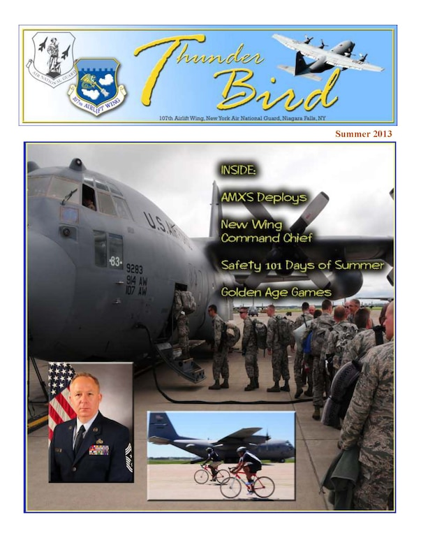 The ThunderBird is a quarterly edition. It will be published in March, June, September, and December (spring, summer, fall and winter issues). (Air Force Graphic/Tech. Sgt. Brandy Fowler)