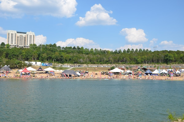 Moonshine Beach Recreation Area is a very popular sandy swimming beach along the shores of Table Rock Lake.