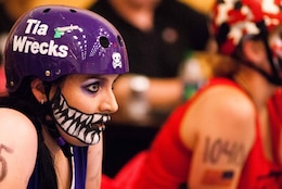 Ashley Dailide, Seattle District Environmental and Cultural Resource Branch archaeologist is a two-year roller derby veteran.