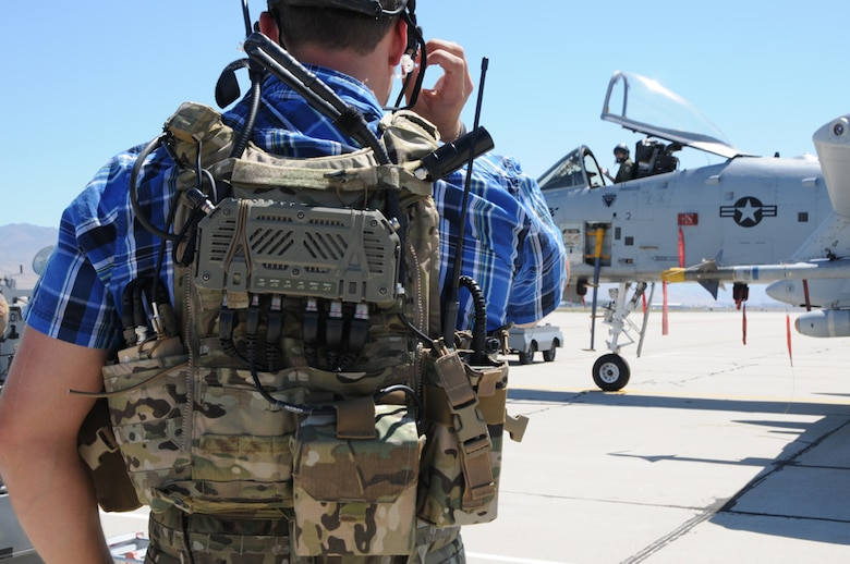 Residents of Boise can expect to hear the A-10 Thunderbolt II aircraft and see ground troops communicating with the pilots in and around the city neighborhoods and the Boise foothills July 16-25. These U.S. Air Force ground personnel are known as Tactical Air Control Specialists and they play a key role in the teamwork needed to successfully conduct urban combat operations. (Air National Guard photo by Tech. Sgt. Becky Vanshur)