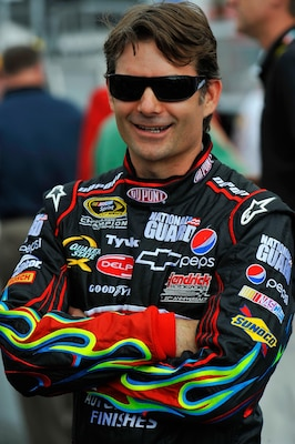 Jeff Gordon, driver of the No. 24 DuPont Chevrolet, won the first Gatorade Duel on Thursday and will line up third for Sunday's Daytona 500.
