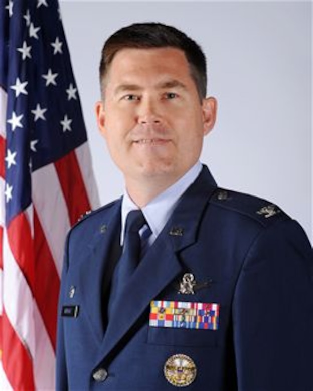 Col. Dan Wright, 460th Space Wing commander. (U.S. Air Force courtesy photo)