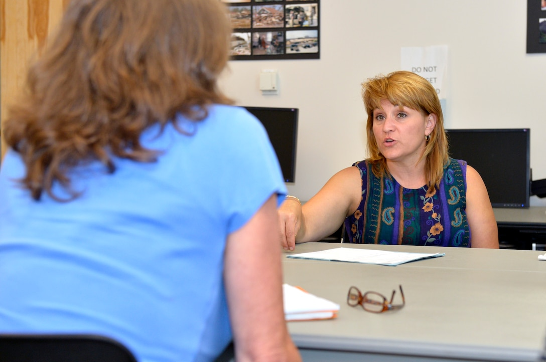 MCGHEE TYSON AIR NATIONAL GUARD BASE, Tenn. – Tammie Smeltzer, sexual assault prevention and response coordinator from the I.G. Brown Training and Education Center, speaks with members of the 134th Air Refueling Wing here and with area sexual assault program managers July 17 for an ongoing effort to help eliminate sexual assault from the armed forces. (U.S. Air National Guard photo by Master Sgt. Kurt Skoglund/Released)
