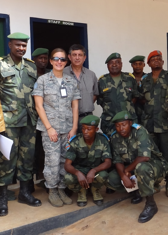 U.S. Air Force Maj. Jana Nyerges spent six months with a UN Peacekeeping mission in Goma, Democratic Republic of the Congo, working with DRC government military. While she was stationed there in 2012, M23 rebels took over Goma. (U.S. Air Force Photo courtesy of Maj. Jana Nyerges/Released.
