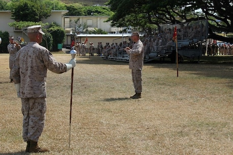 On 17 July 2013, the Marine Forces Pacific Band performed for the 3rd Marine Regiment's Change of Command Ceremony. The Band was under the direction of the Band Officer, CWO3 Michael J. Smith, and was led on the march by the Drum Major, GySgt Brad Rehrig.