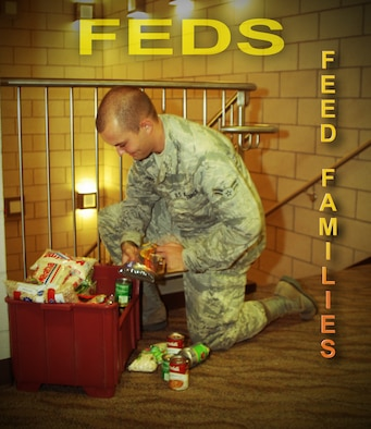 Team Goodfellow participates in Fed's Feed Families (U.S. Air Force graphic/ Airman 1st Class Erica Rodriguez)