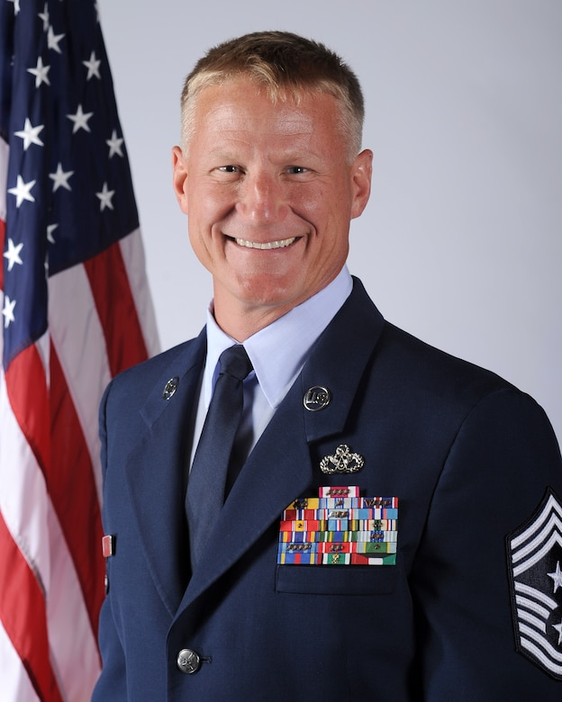 Chief Master Sgt. Craig S. Hall, 460th Space Wing command chief