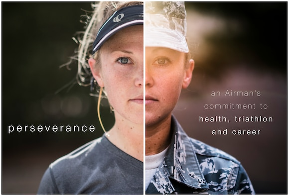 U.S. Air Force Senior Airman Megan Stanton is a medic with the 366th Medical Operations Squadron. She puts everything into all that she does, whether swimming at the base pool, biking up a mountain pass or caring for the patients in the Mountain Home Air Force Base urgent care center in Idaho. (U.S. Air Force graphic/Tech. Sgt. Samuel Morse)