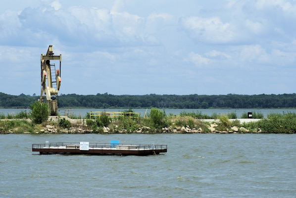 A new floating platform is hoped to lure terns away from nesting on oil pads while providing them an ideal habitat for nesting at Lake Texoma.