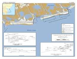The Townsends Inlet to Cape May Inlet project includes (1) 4.3 miles of beachfill, (2) 2.2 miles of seawall construction, and (3) ecosystem restoration.