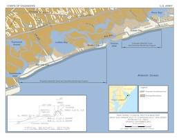 The Great Egg Harbor Inlet to Townsends Inlet project calls for construction of a beachfill with a berm and dune in the municipalities of Ocean City, Upper Township, and Sea Isle City.