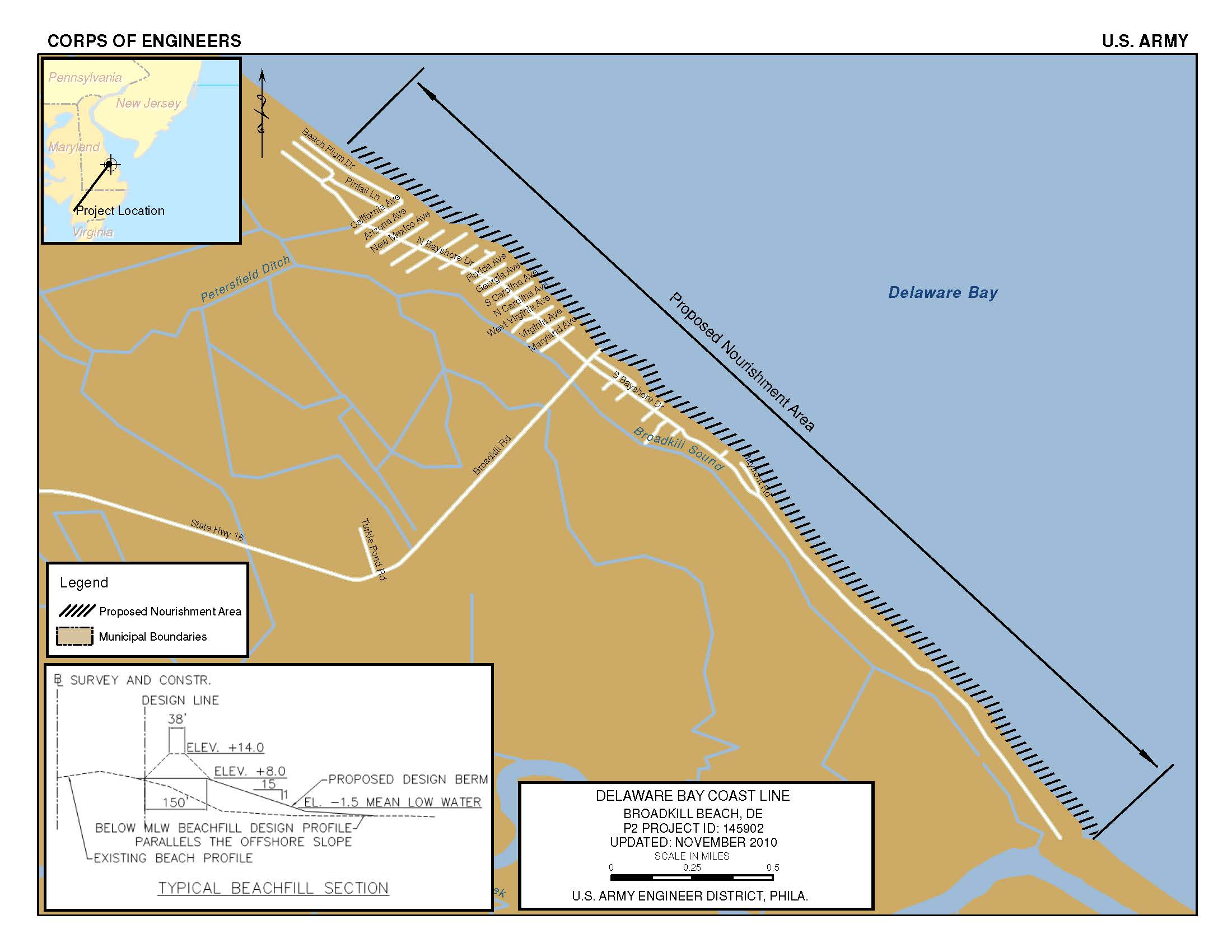Delaware Bay Coastline Broadkill Beach De Philadelphia District