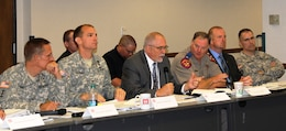 Partners from the State of Texas and other Federal agencies joined in the discussions with the Army Corps of Engineers for the SWD-hosted Hurricane Table Top Exercise.