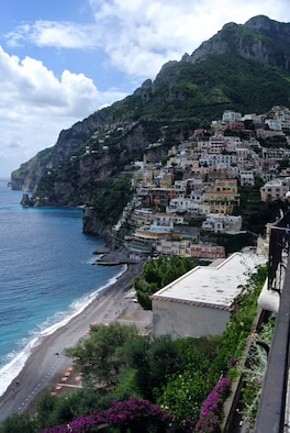 Positano is one of several towns located on the Amalfi coast and offers gorgeous beaches, stunning ocean vistas, as well as great shopping and nightlife. (U.S. Air Force photo/Senior Airman Michael Battles)