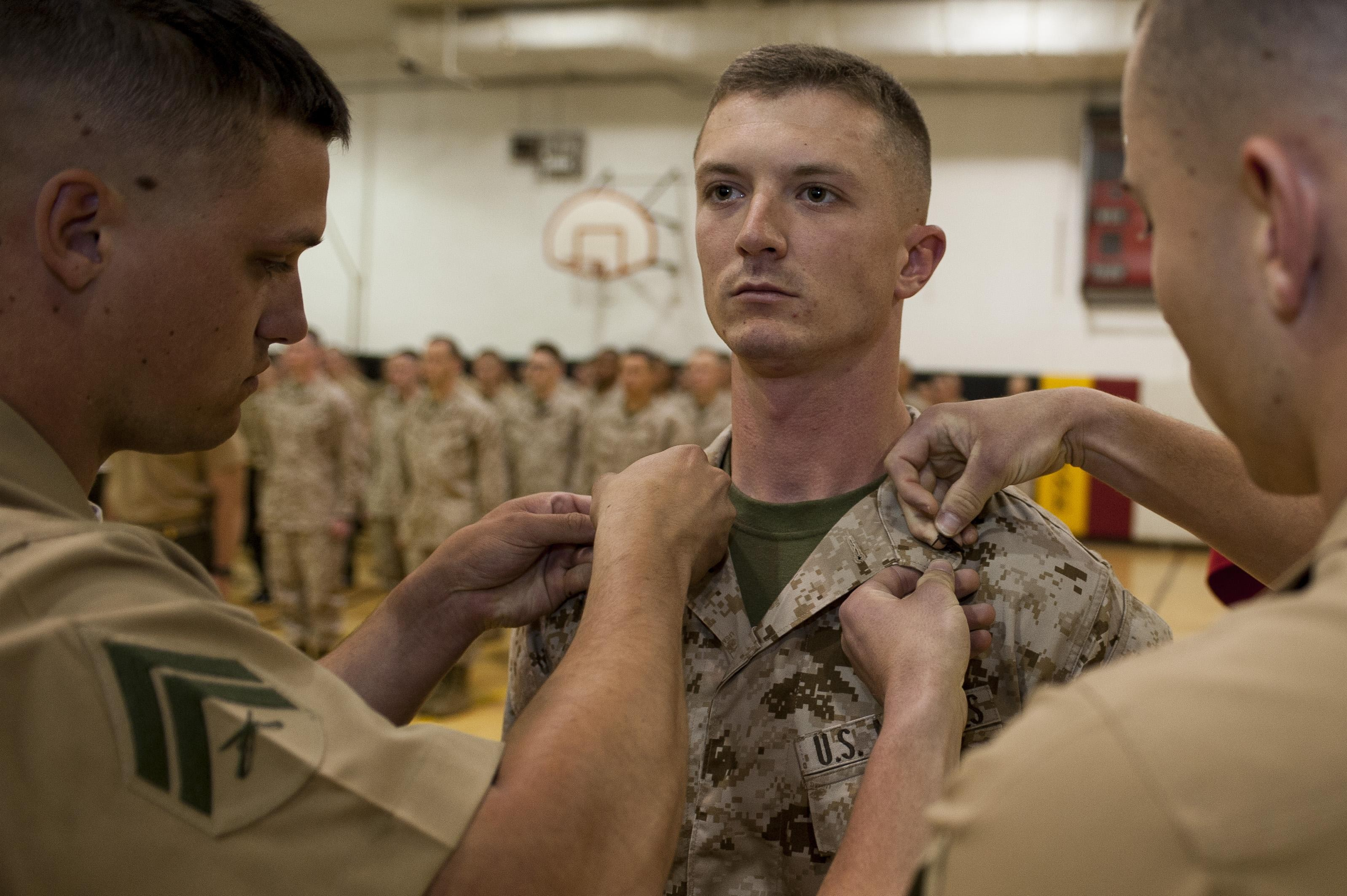 Estero native gets promoted to rank of corporal > Marine Barracks ...