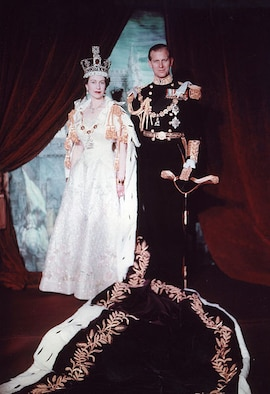 Official portrait of Queen Elizabeth II and Prince Philip, Duke of Edinburgh, following the Queen's coronation in June 1953. (Courtesy photo)