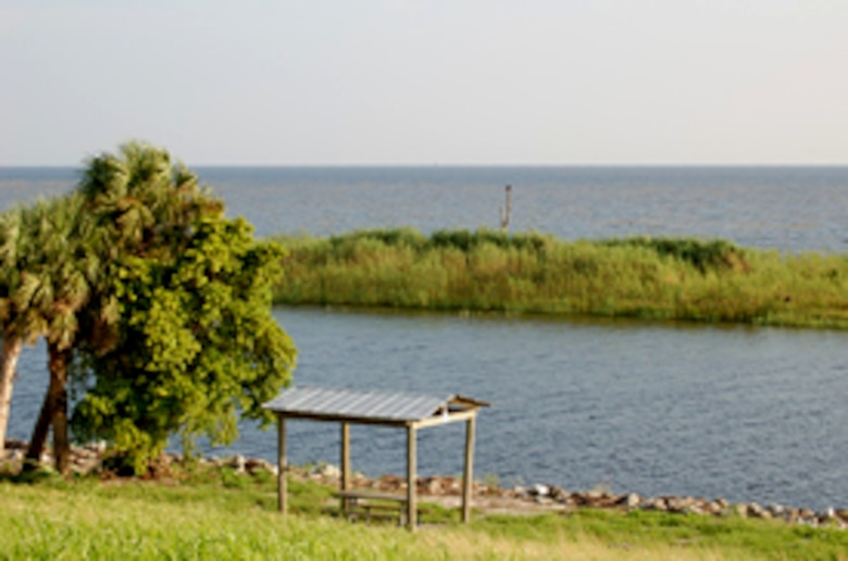 This is one of the Lake Okeechobee Scenic Trail primitive campsites, 4.5 miles east of Clewiston.
