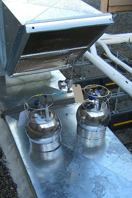 Outdoor air samples were collected at the rooftop air intake of the office building during a vapor intrusion investigation at Moffet Airfield in California in February 2013.